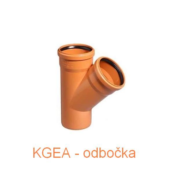 KGEA odbočka DN 110/110/45°