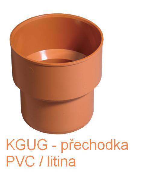 KGUG přechodka litina/PVC DN 110