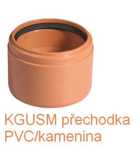 KGUSM přechodka PVC/kamenina DN 110